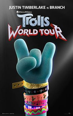 High resolution official theatrical movie poster ( of for Trolls World Tour [aka Trolls Image dimensions: 1895 x Starring Justin Timberlake, Anna Kendrick, Sam Rockwell Ozzy Osbourne, Anna Kendrick, Justin Timberlake, Dreamworks Animation, Animation Film, Internet Movies, Movies Online, Tour Logo, Coming Soon Trailer