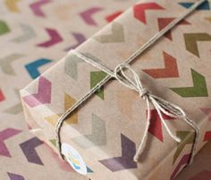 Follow the arrow wrapping paper.