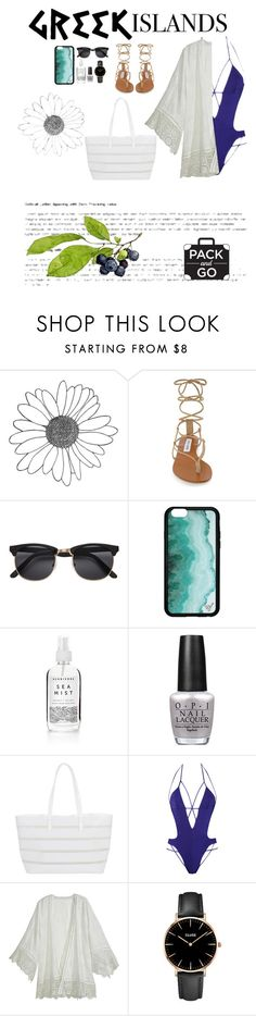 """""""greek islands"""" by esincandance ❤ liked on Polyvore featuring Steve Madden, Herbivore, OPI, BUCO, Agent Provocateur, Calypso St. Barth, CLUSE, Packandgo and greekislands"""