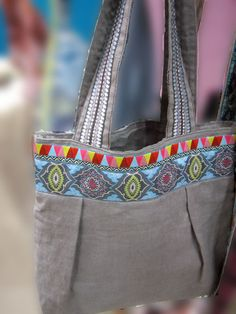 Purse embellished with beautiful ribbons
