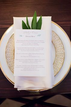 #place-settings, #napkins, #plates, #china, #menu  Photography: Theo Milo Photography - theomilophotography.com  Read More: http://www.stylemepretty.com/2014/08/11/craft-beer-inspired-wedding/