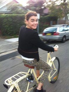 Bike riding, cropped pants