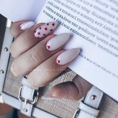 """If you're unfamiliar with nail trends and you hear the words """"coffin nails,"""" what comes to mind? It's not nails with coffins drawn on them. It's long nails with a square tip, and the look has. Diy Nails, Cute Nails, Pretty Nails, Gel Manicures, Heart Nail Art, Heart Nails, Solid Color Nails, Nail Colors, Prom Nails"""
