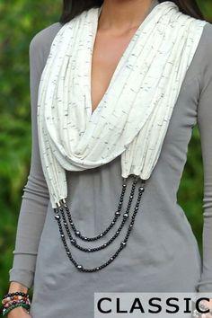 Элегантный аксессуар: 20+ изящных образов шарфов с бижутерией