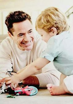 Robert Downey Jr Father and son