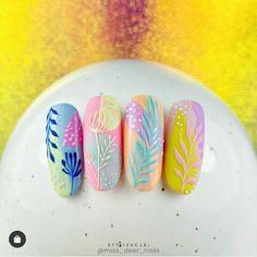 Trendy Nails, Cute Nails, Acrylic Nail Designs, Nail Art Designs, Deer Nails, Art Deco Nails, Indigo Nails, Manicure E Pedicure, Nail Decorations