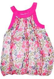 Featuring an attractive all-over print, this bubble dress from the house of Nauti Nati will surely make your little fashion diva look like an angel. Made from poly chiffon,