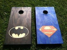 Superman vs. Batman Cornhole Boards!