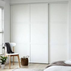 Wall closet with color white door for sliding wardrobe doors with six panel doors you can apply for bedroom wall cabinets - November 09 2019 at Bedroom Wall Cabinets, Bedroom Cupboard Doors, Bedroom Closet Doors Sliding, Sliding Cupboard, Bedroom Cupboard Designs, Built In Wardrobe Ideas Sliding Doors, Entryway Closet, Sliding Wall, Linen Cupboard