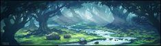Forest Stream by andreasrocha.deviantart.com on @DeviantArt