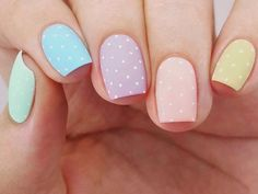 Easter nails are the cutest ones among the rest of the spring ideas. There are so many different designs that are popular for Easter Sunday. We have covered the best nail art in this article for your inspiration! Effective Pictures We Easter Nail Designs, Easter Nail Art, Nail Designs Spring, Cool Nail Designs, Polish Easter, Cute Nails, Pretty Nails, Hair And Nails, My Nails