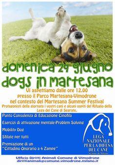 29/6 la Sezione di #Milano della #LegadelCane organizza Dogs in Martesana