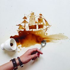 Coffee Art by Giulia Bernardelli. Words can't describe how much I LOVE THIS…