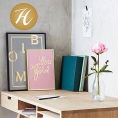 Bring forår ind i dit hjem med en af disse smukke plakater fra I LOVE MY TYPE