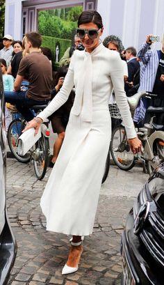 Giovanna Battaglia in a Giambattista Valli dress and Gianvito Rossi shoes.