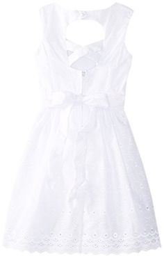 471d5cb1f668a Ruby Rox Big Girls' Sweet Heart Neckline Dress, White, 16 - Click image