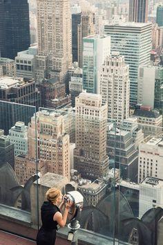 Empire State Building observation deck.