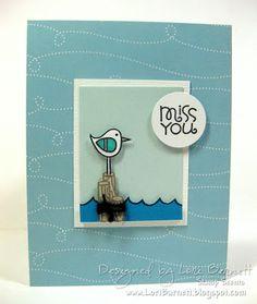Miss You card by Lori Barnett - Paper Smooches - Surf & Turf