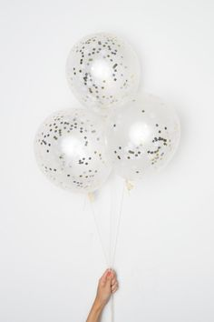 Metallic Confetti DIY Balloons