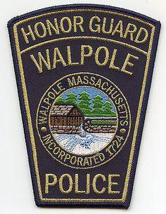 WALPOLE-MASSACHUSETTS-MA-Honor-Guard-POLICE-PATCH