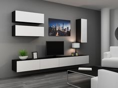 HIGH GLOSS TV CABINET / TV WALL UNIT / TV STAND 'VIVA 13' | eBay