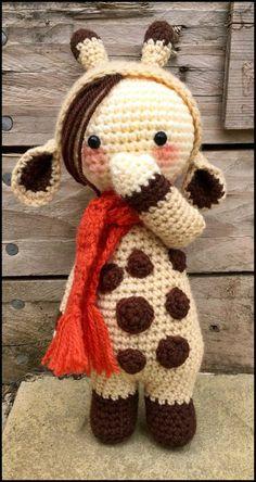 Handmade crochet amigurumi small giraffe - just over 10 inches **Made to Order** - Cute Gift/keepsake idea