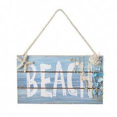 These wood-inspired indigo blue coral coastal collage prints are the perfect and affordable way of adding a splash of color to your home! Satisfaction if guaranteed at Gango Home Decor. Beach Signs Wooden, Nautical Signs, Nautical Home, Wood Signs, Coastal Decor, Rustic Decor, Beach Christmas Ornaments, Christmas Tree, Coral Blue
