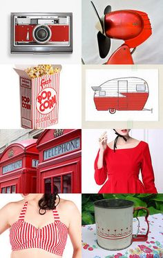 Red and Retro by Anna Zhytnikova on Etsy--Pinned with TreasuryPin.com