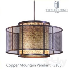Copper Mountain F3105 Pendant (By Troy Lighting)