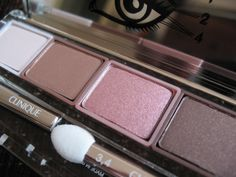 Clinique All About Shadow Quad 'Pink Chocolate' Beauty Makeup, Hair Makeup, Pink Chocolate, Quad, Swatch, Hair Care, Blush, Eyeshadow, Photos