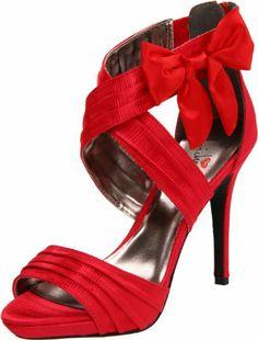 Luichiny Women S Mist Tee Platform Sandal Red Prom Shoes Bridal Wedding
