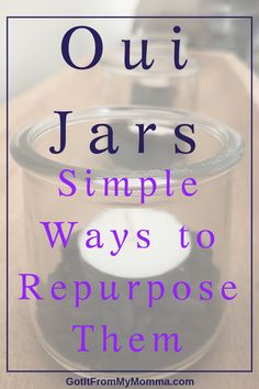 Use these simple ideas to repurpose your empty Oui Yogurt Jars. There are a ton of simple uses for these adorable Oui Jars. Crafts With Glass Jars, Small Glass Jars, Mason Jar Crafts, Bottle Crafts, Mason Jars, Crafts To Make, Kids Crafts, Easy Crafts, Craft Projects