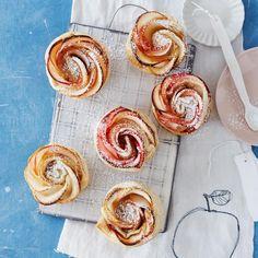 Apfelrosen-Muffins von Zucker, Zimt & Liebe: Rezept - [LIVING AT HOME]