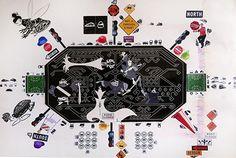 cm, sticker on bristol, 2015 Dada Art, Paper Artwork, Buy Art, Fields, The Help, Saatchi Art, Original Art, Collage, Symbols