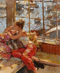 Kai Fine Art is an art website, shows painting and illustration works all over the world. Woman Painting, Figure Painting, Painting & Drawing, Wow Art, Caravaggio, Beautiful Artwork, Figurative Art, Female Art, Art Drawings