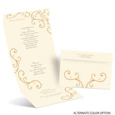 Seal & Send wedding invitations let you invite your guests with one simple invite. They don't even need envelopes! From Ann's Bridal Bargains