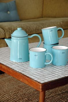 Tea/Coffee mug   ceramic enamel-look   arctic blue  #cabanaz #capventure #dutchdesign #product #teamug #coffeemug #ceramic #enamellook