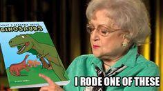 Betty White Remembers Dinosaurs