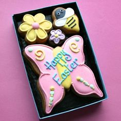 Easter Butterfly cookie card