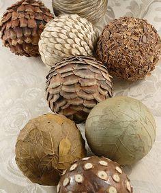 Loving this Natural Ball Décor Set on #zulily! #zulilyfinds