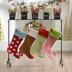 Never forget which is which with Kirkland's 'Chalkboard Presents Stocking Holder.' Each member of the family's special stalking will be accounted for in style for Santa this year!