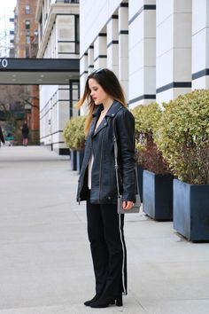 Fashion blogger: How to wear track pants.