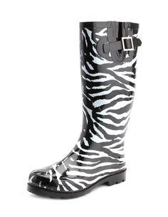 zebra rain boots!!