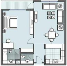 One Room Floor Plan