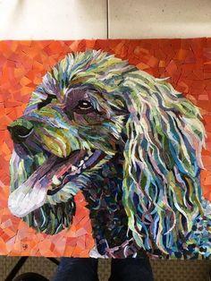 Mosaic Designs, Mosaic Patterns, Mosaic Art, Mosaic Glass, Stained Glass, Mosaic Projects, Mosaic Ideas, Mosaic Portrait, Mosaic Animals
