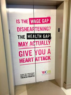 Elevator Wraps for Women's College Hospital.  #elevatorwraps #adsinelevator #advertising #vinylgraphics #vinyl
