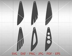Wing Earrings Cut Template. Multiple file format perfect for banners, invitation, clip art, scrapbooking, card making, heat transfer print, party accessories and all your crafting. Commercial use not limited. * This Download Includes ************************ 1 EPS files (grouped image)