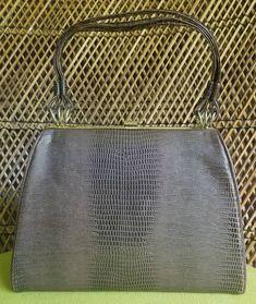 Vintage Faux Alligator Skin Purse Brown Handbag by Dover | Etsy Pocket Books, Tote Bag, Handbags, Purses, Brown, Etsy, Vintage, Minimal, Sunshine
