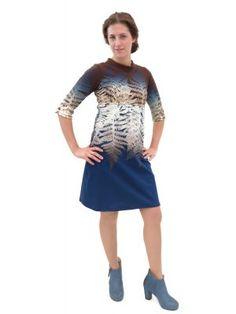 Bio-Jerseykleid Farnfantasie Fair Trade, Shirt Dress, T Shirt, Dresses For Work, Fashion, Curve Dresses, Women's, Supreme T Shirt, Moda
