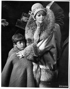 Janis Paige as Mame protecting young Patrick (David Manning) from Mr. Babcock.  MAME on Broadway.